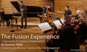 The Fusion Experience with live jazz quartet & string quartet - introduction (no testimonials)